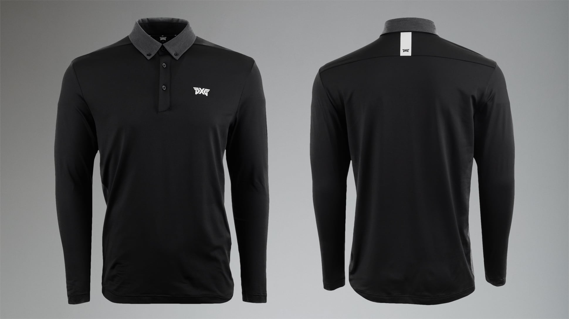 Long Sleeve Collar Button Down Polo Image 2