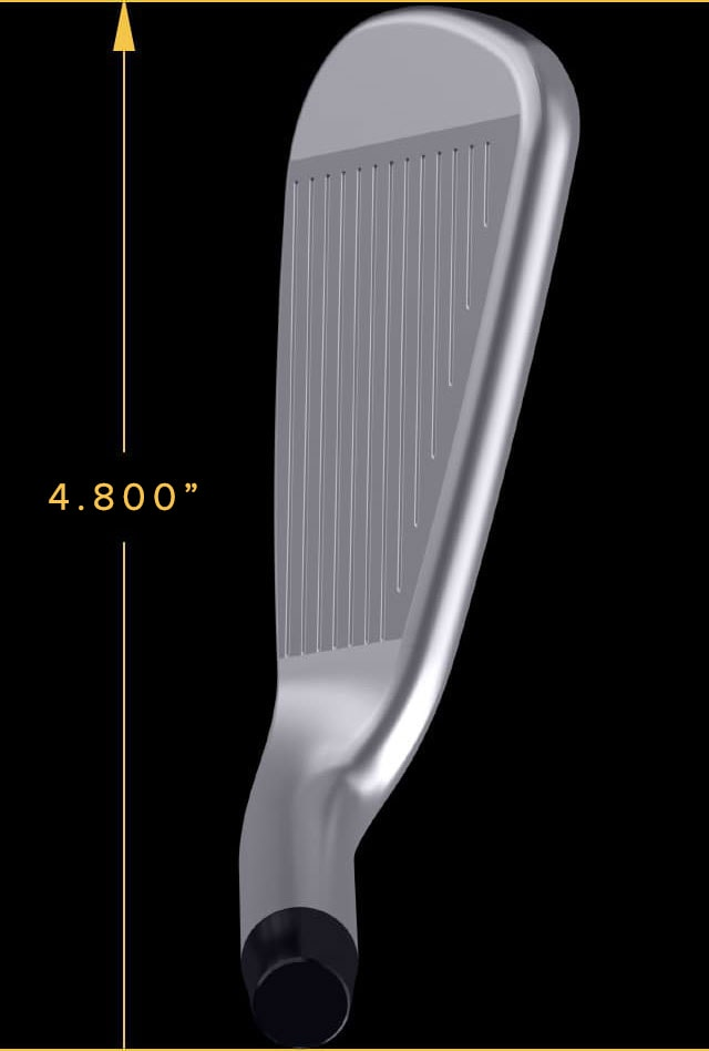 Blade length of XP Iron is 3.505 inches