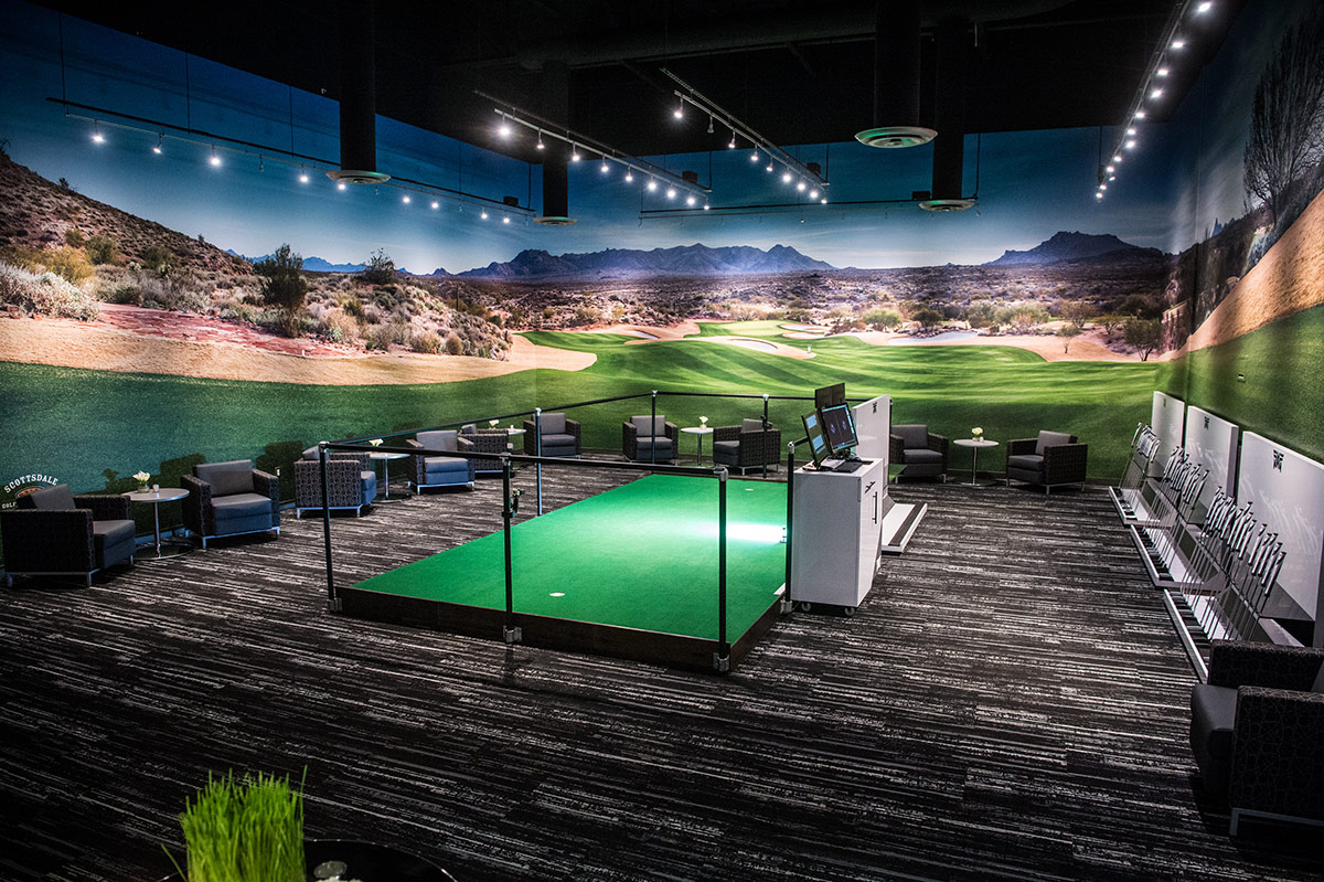 PXG Headquarters interior - alternate angle of putting green