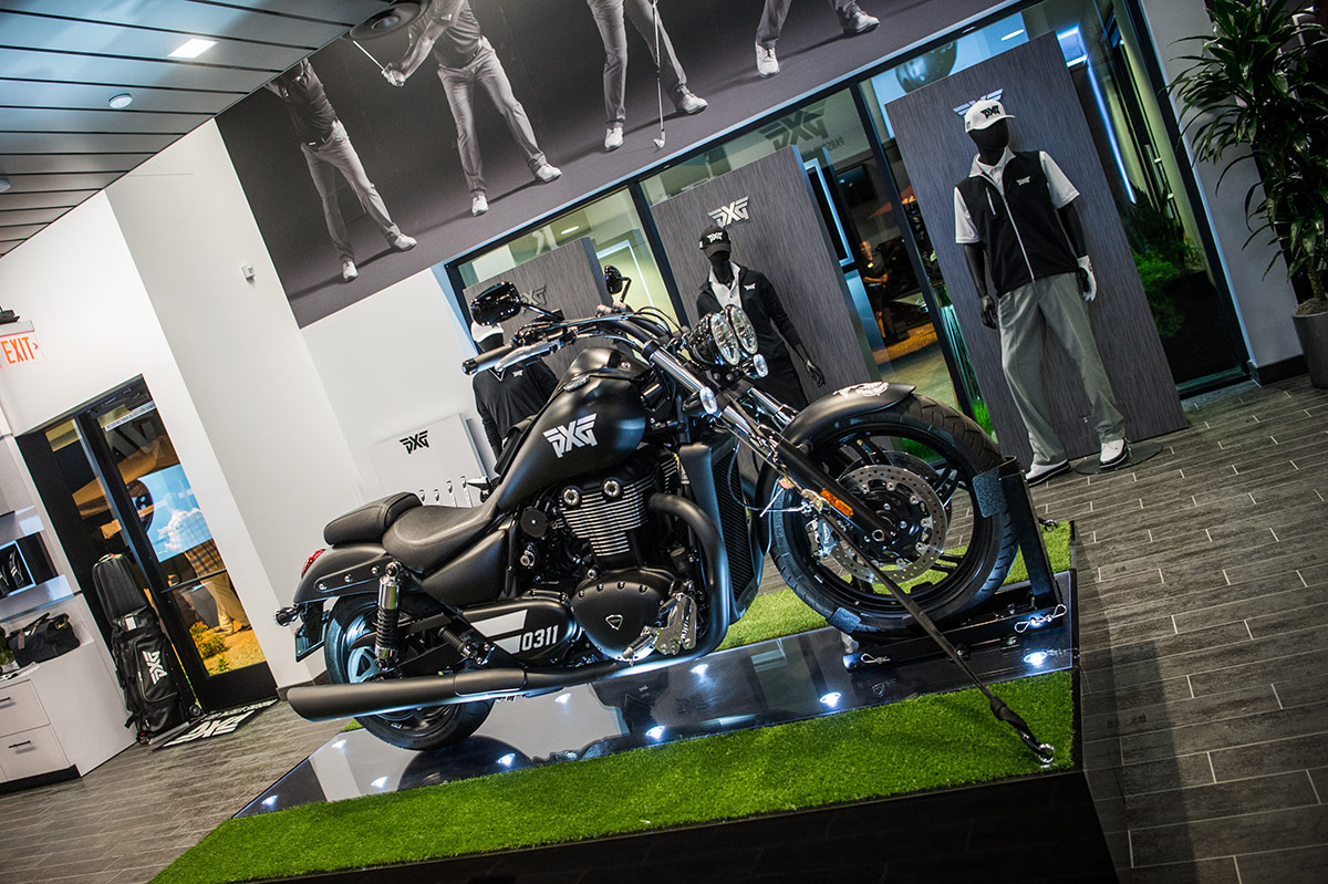 PXG Motorcycle, on interoior display