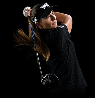 Brittany Lang plays PXG