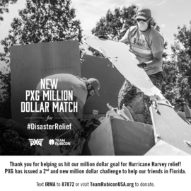 PXG's Matching Challenge Helps Team Rubicon Raise $2 Million for Disaster Relief
