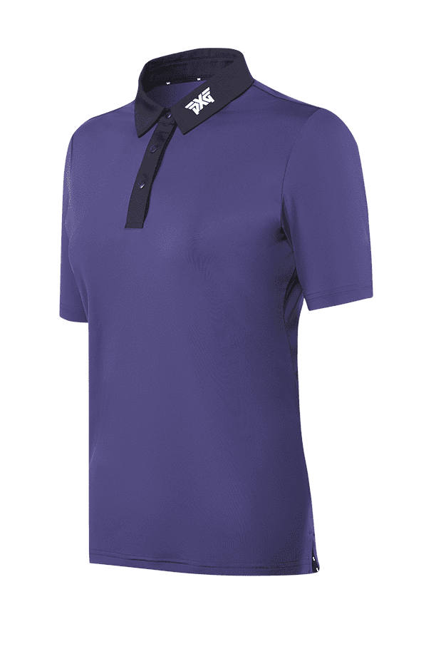 Buy Cobalt Black Collar Polo