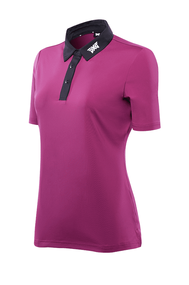 Buy Royal Plum Black Collar Polo